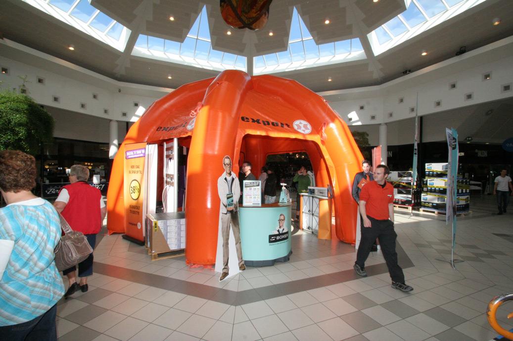 Uppblåsbara tält, från 3D till verklighet