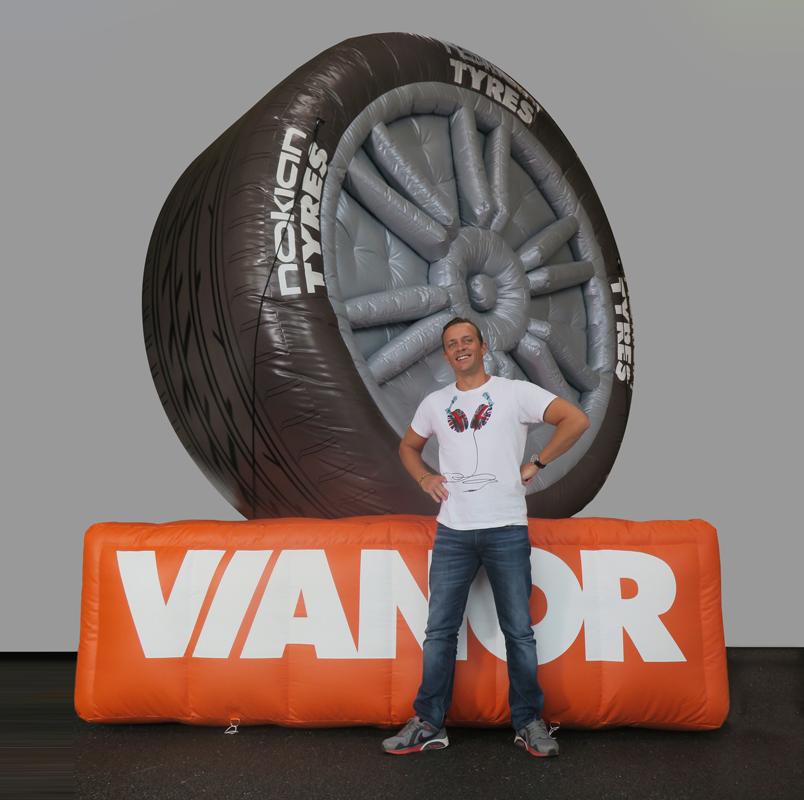 Uppblåsbara däck till Vianor