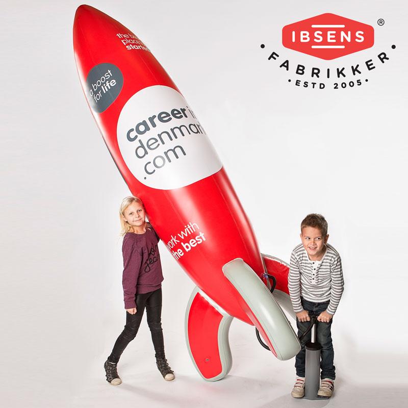 Uppblåsbar raket till mässor