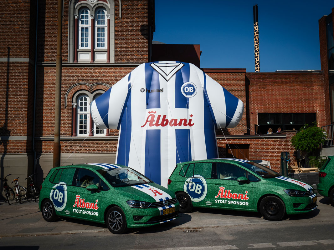 Reklamballong till Odense Boldklub
