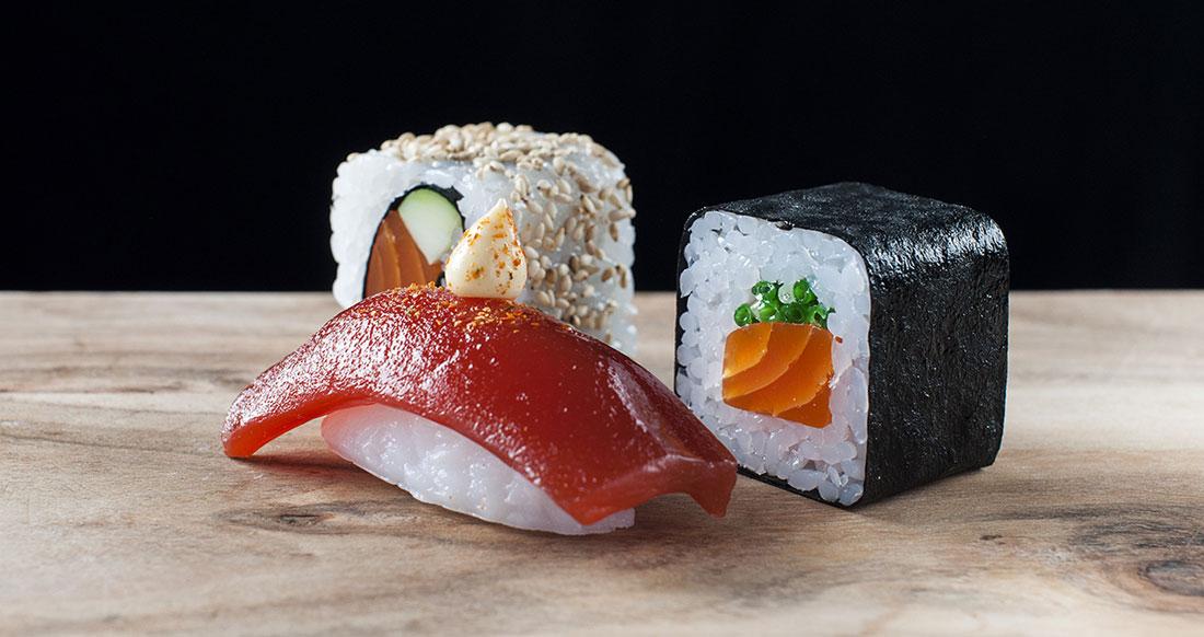 Konstgjord Sushi i 3 varianter