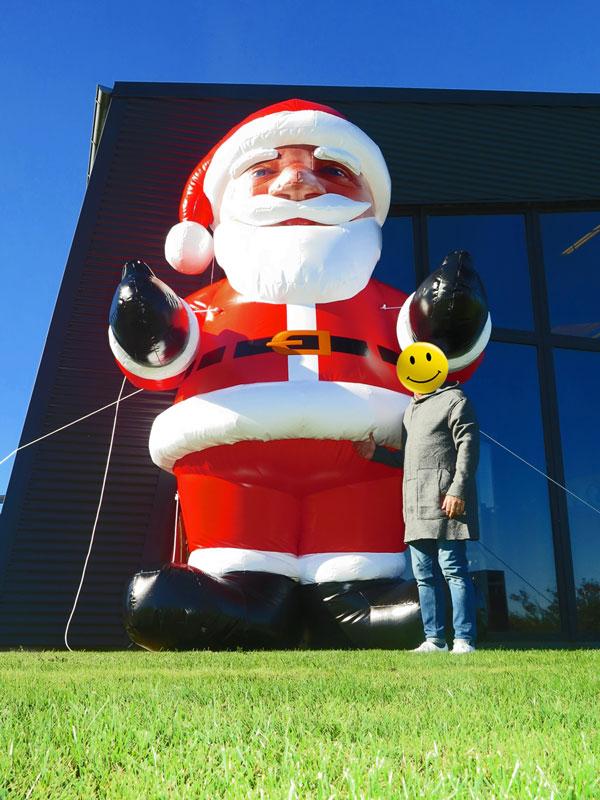 Uppblåsbar jultomte