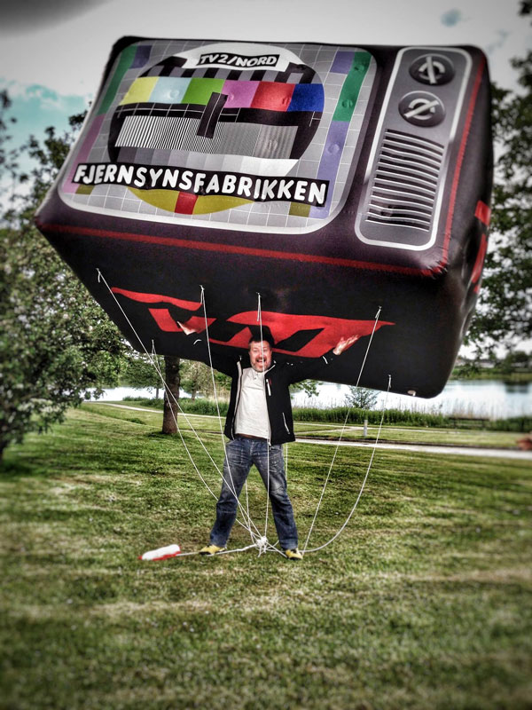 Jätteballong för TV-fabriken/TV2 Nord
