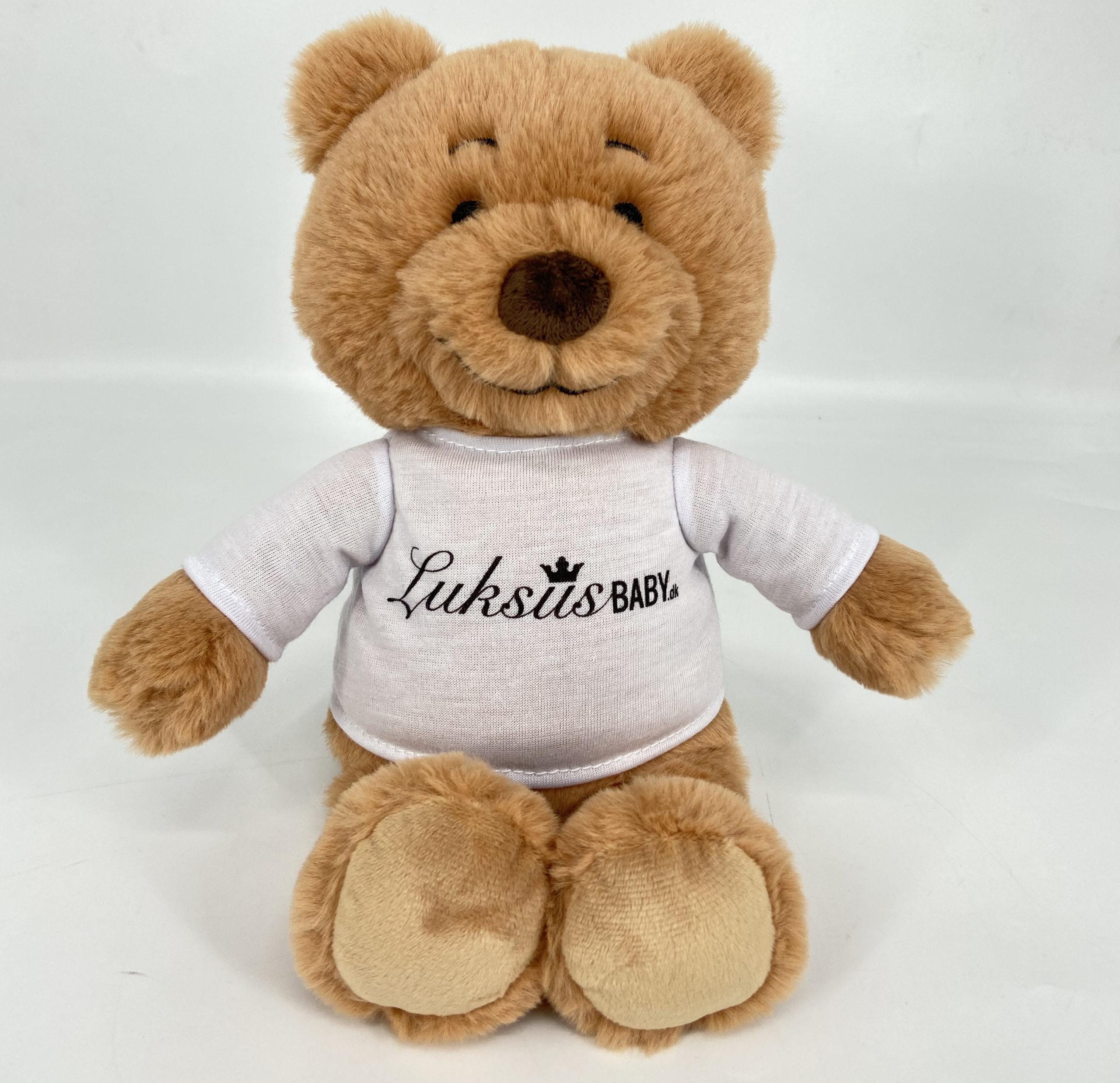 luksus bamse med logo